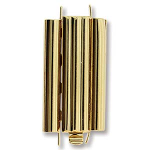 Beadslide Bar 10X24mm Goldplate