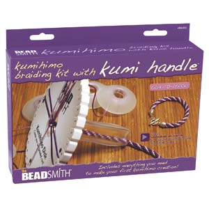 A Kumihimo Starter Kit 3 Round Kumi Handle