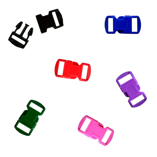 Para Cord Buckle 12mm 5 Colors