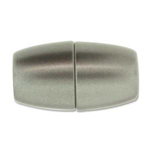 Glue In Magnetic Acrylic Clasp 38x20mm ID-12mm - Granite Matte