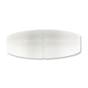 Glue In Magnetic Acrylic Clasp 08.5x22mm - White Shiny