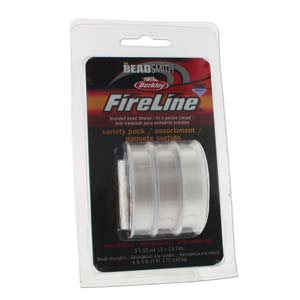 FireLine Clear Variety Pack 15yd ea 4-6-8