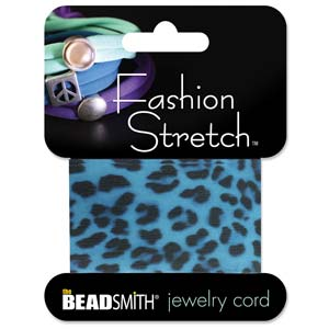 Fashion Stretch Blue Leopard Print 1 meter