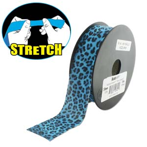 Fashion Stretch Blue Leopard Print 10 meter