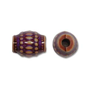 Mirage Bead Moon Basket 12x16mm ID: 3.5mm - Qty-10 Bds
