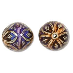 Mirage Bead Round Opulent Arches 17x16mm ID: 2.5mm - Qty-10 Bds