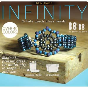 Infinity 4x8x2.7mm Czech Bead