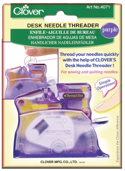 Desk Needle Threader � Purple