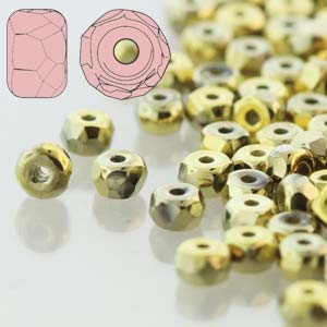 Faceted Micro Spacer 2x3mm Crystal Full Amber 600pc
