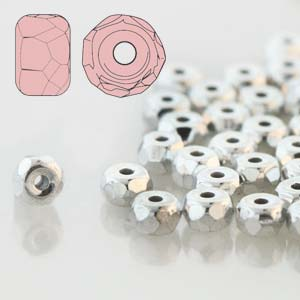 Faceted Micro Spacer 2x3mm Crystal Full Labrador 600pc