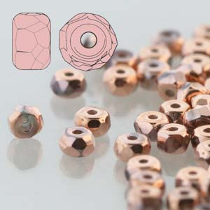 Faceted Micro Spacer 2x3mm Crystal Full Capri 600pc