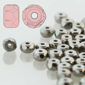Faceted Micro Spacer 2x3mm Crystal Chrome 600pc