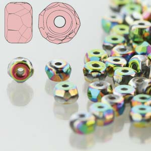 Faceted Micro Spacer 2x3mm Crystal Full Vitrail 600pc