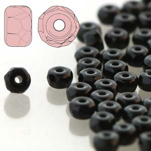 Faceted Micro Spacer 2x3mm Jet 600pcs