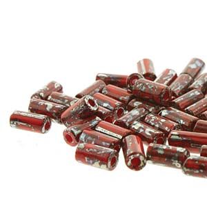 8x4mm Red Picasso Tube