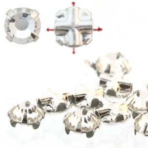 Rose Montees 3.5mm Crystal in Silver