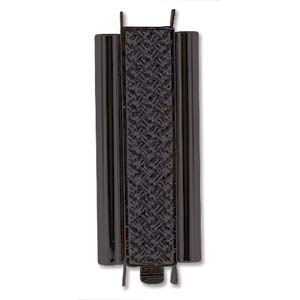 Beadslide Cross Hatch 10X29mm Black