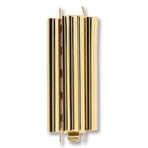 Beadslide Bar 10X29mm Goldplate