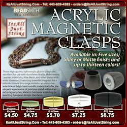 Magnetic Acrylic Clasps- Glue In