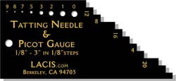Tatting Needle and Picot Gauge