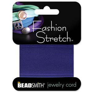Fashion Stretch Navy Shiny 1 meter