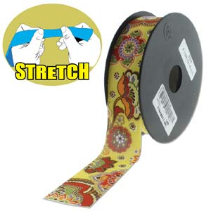 Fashion Stretch Yellow Print 10 meter