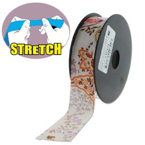 Fashion Stretch White Print 10 meter