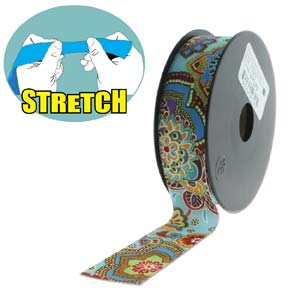 Fashion Stretch Turquoise Print 10 meter