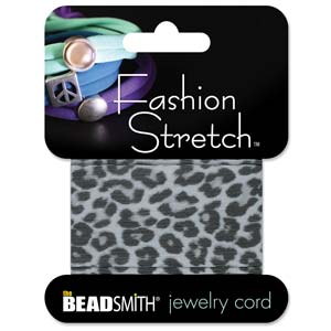 Fashion Stretch White Snow Leopard Print 1 meter