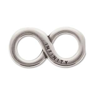 Antique Silver Infinity Symbol 34x18mm - 4 pcs